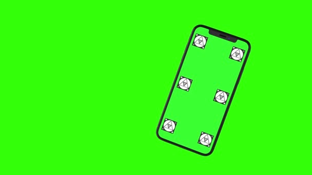 Isolated Smart Phone with Green Screen