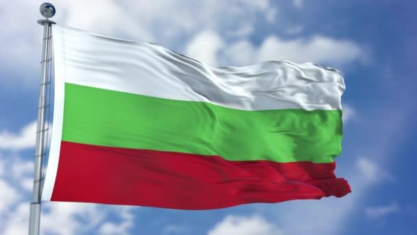 Bulgaria Flag in a Blue Sky