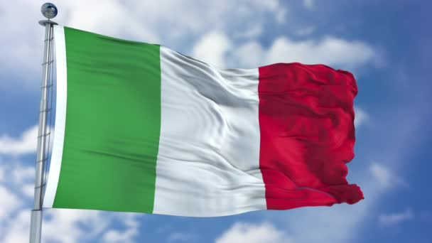 Italy Flag in a Blue Sky