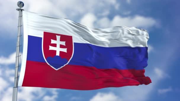 Slovensko vlajka v modré obloze