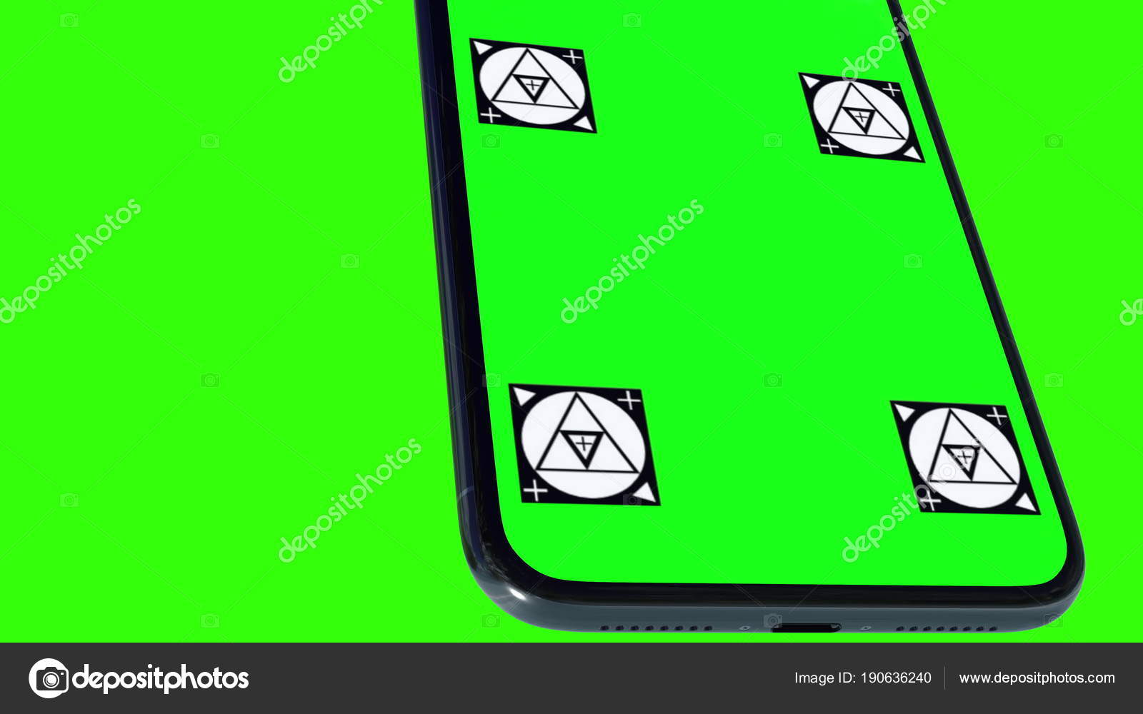 Isolated Smart Phone with Green Screen – Stock Editorial