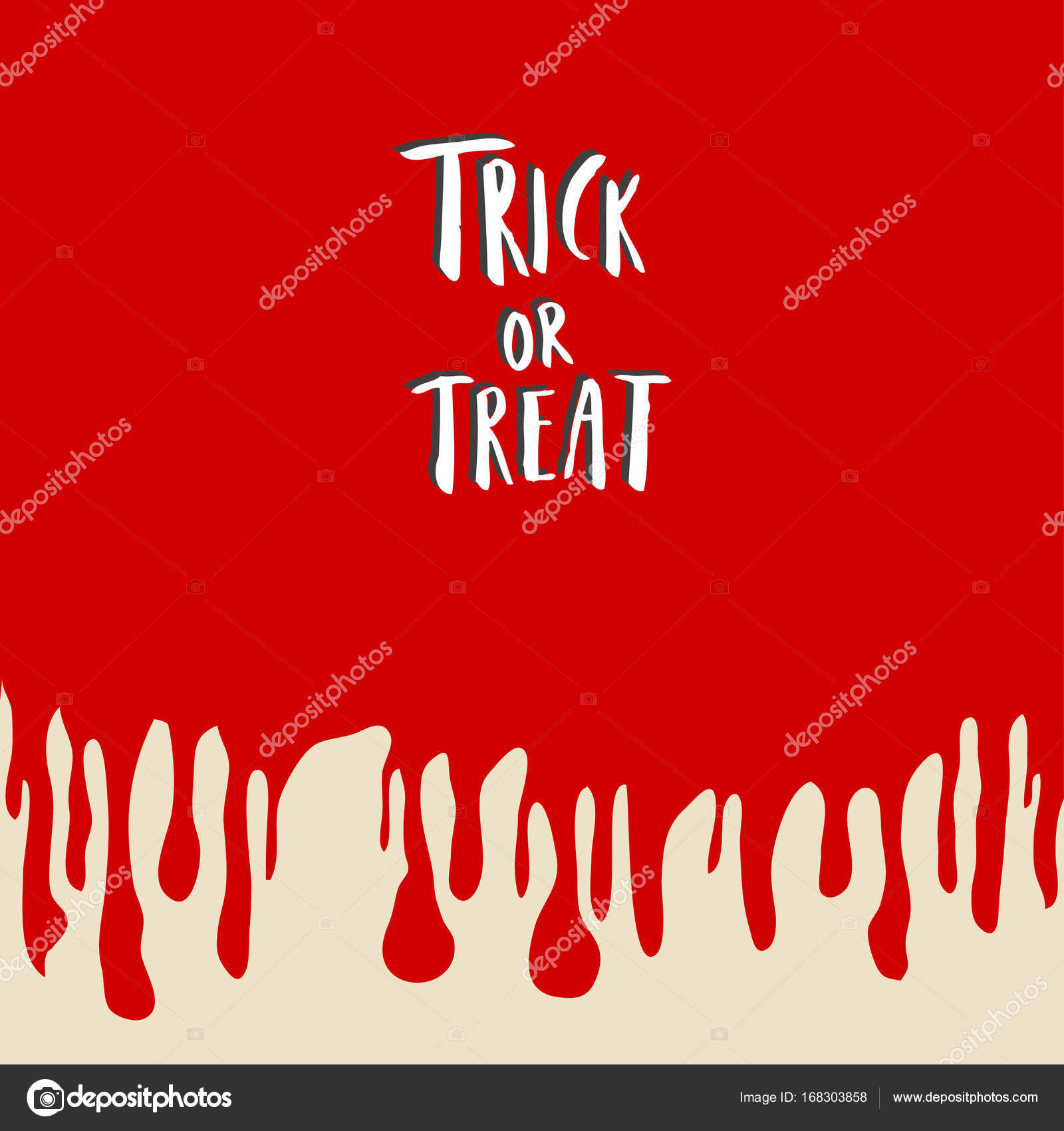 Trick or treat hand lettering halloween holiday inscription isolated trick or treat hand lettering halloween holiday inscription isolated on blood back to greeting cards m4hsunfo