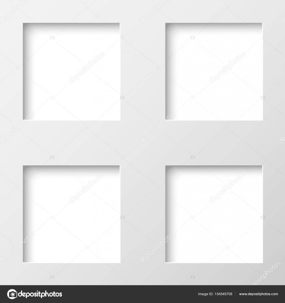 Abstrakte Zeichnungsrahmen Vektor für Foto, Bild, text — Stockvektor ...