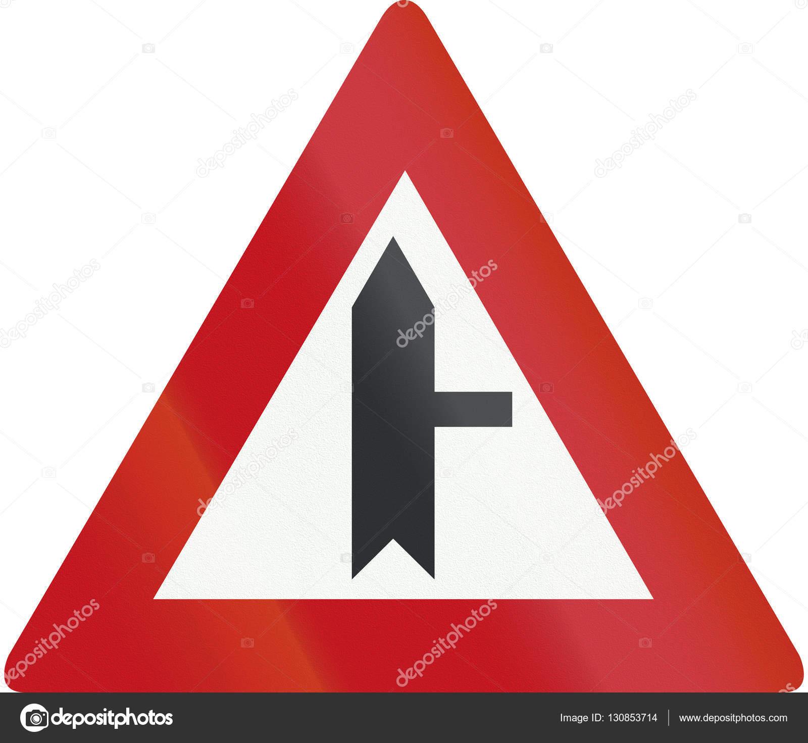 panneau de signalisation n erlandais b5 carrefour avec priorit sur la petite route droite. Black Bedroom Furniture Sets. Home Design Ideas
