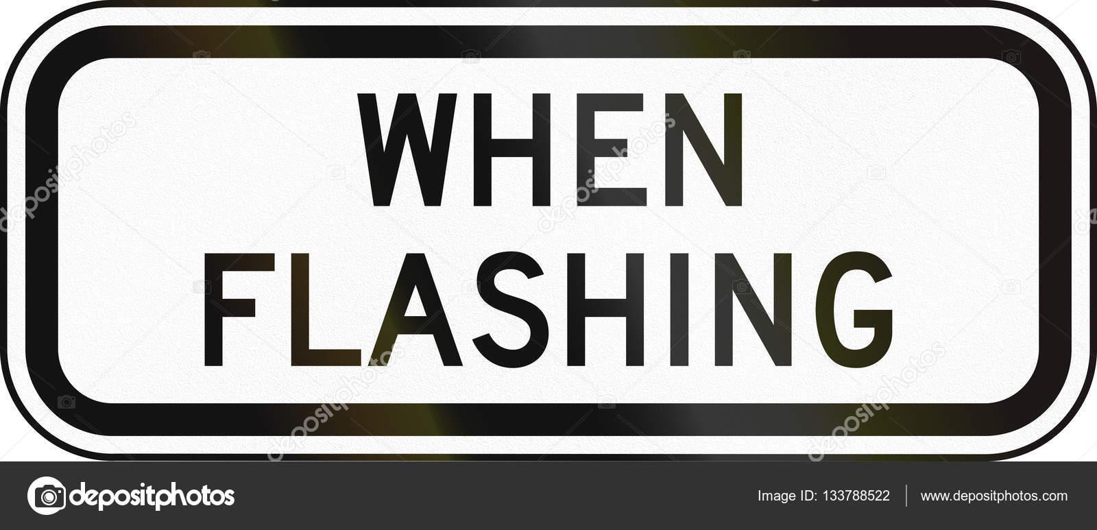 United States Mutcd School Zone Road Sign When Flashing Stock