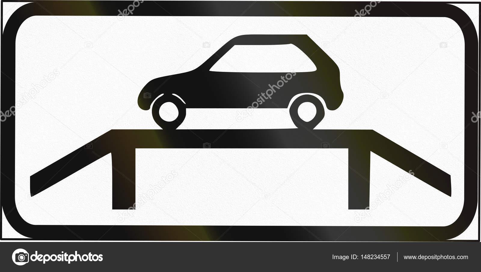 Señal adicional Estonia - inspección de vehículos — Foto de stock ...