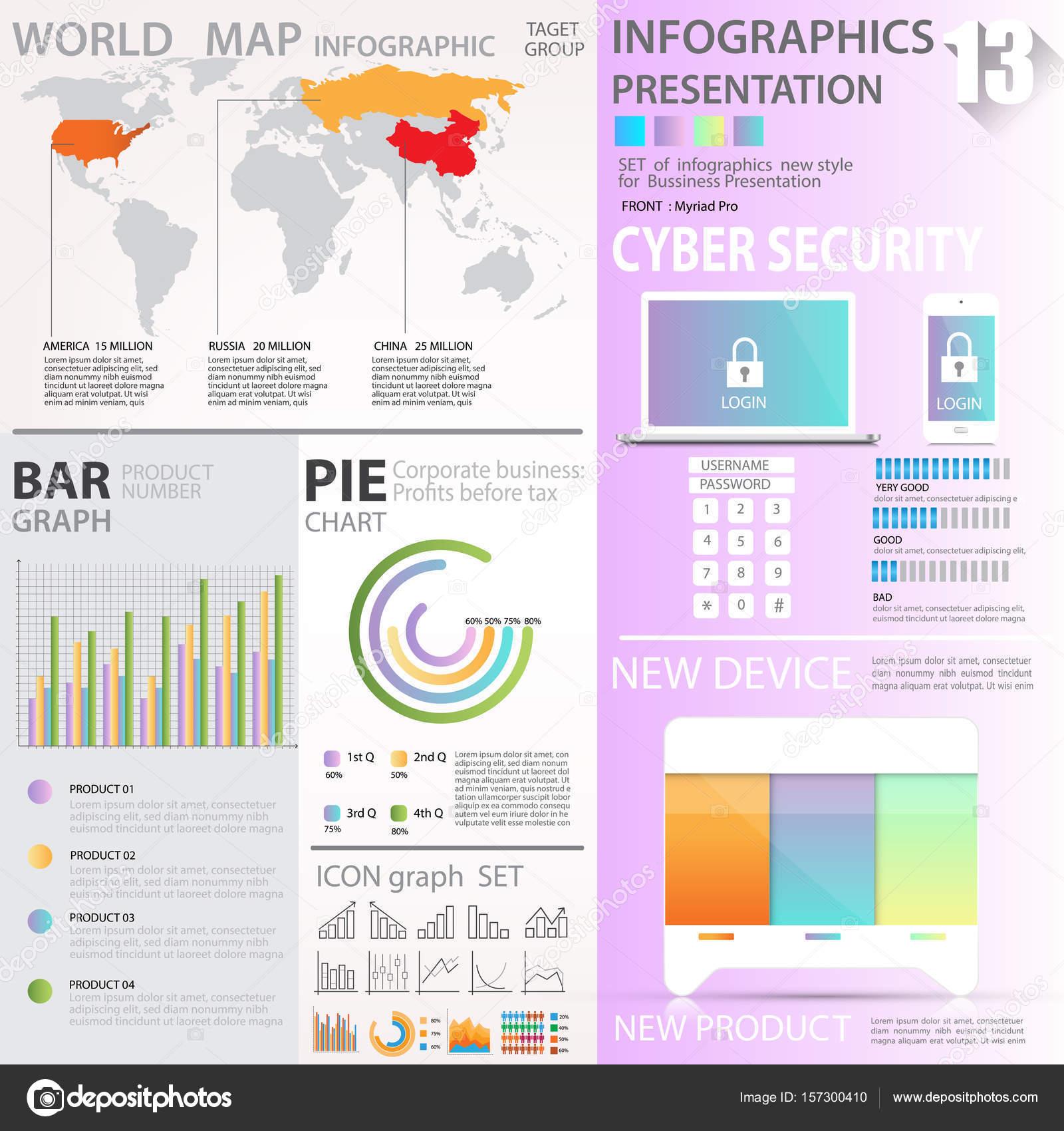 Business Grafiken Datensätze Element Vorlagen, Diagramm, Diagramm ...