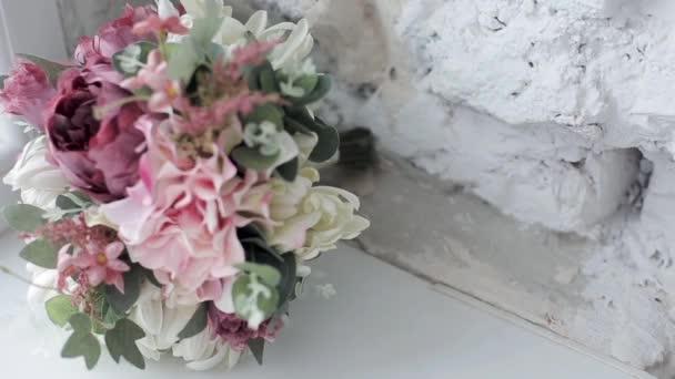krásné svatební kytice zblízka