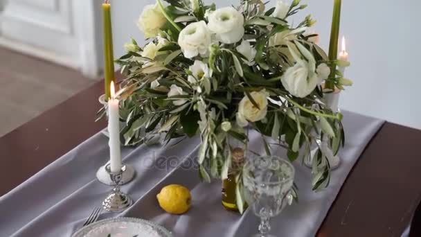 Bruiloft decoraties studio voor fotosessie u stockvideo pvstory