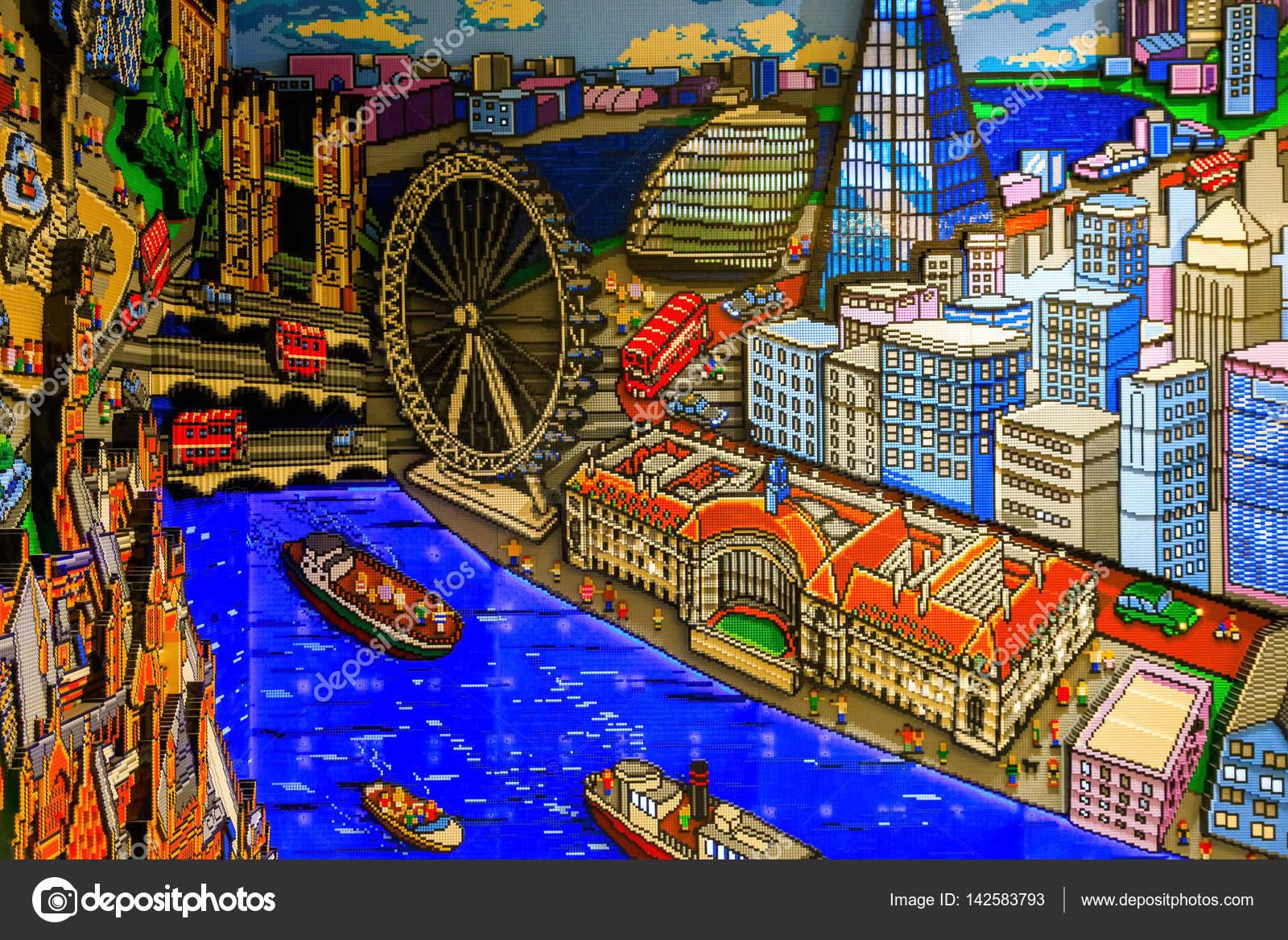Londres Écran Dans À Mur Lego Store OPn8w0k