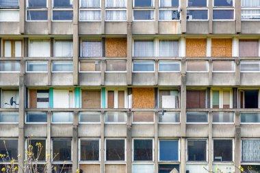 Council flat housing block in East London