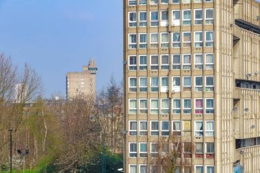 Council housing block in East London