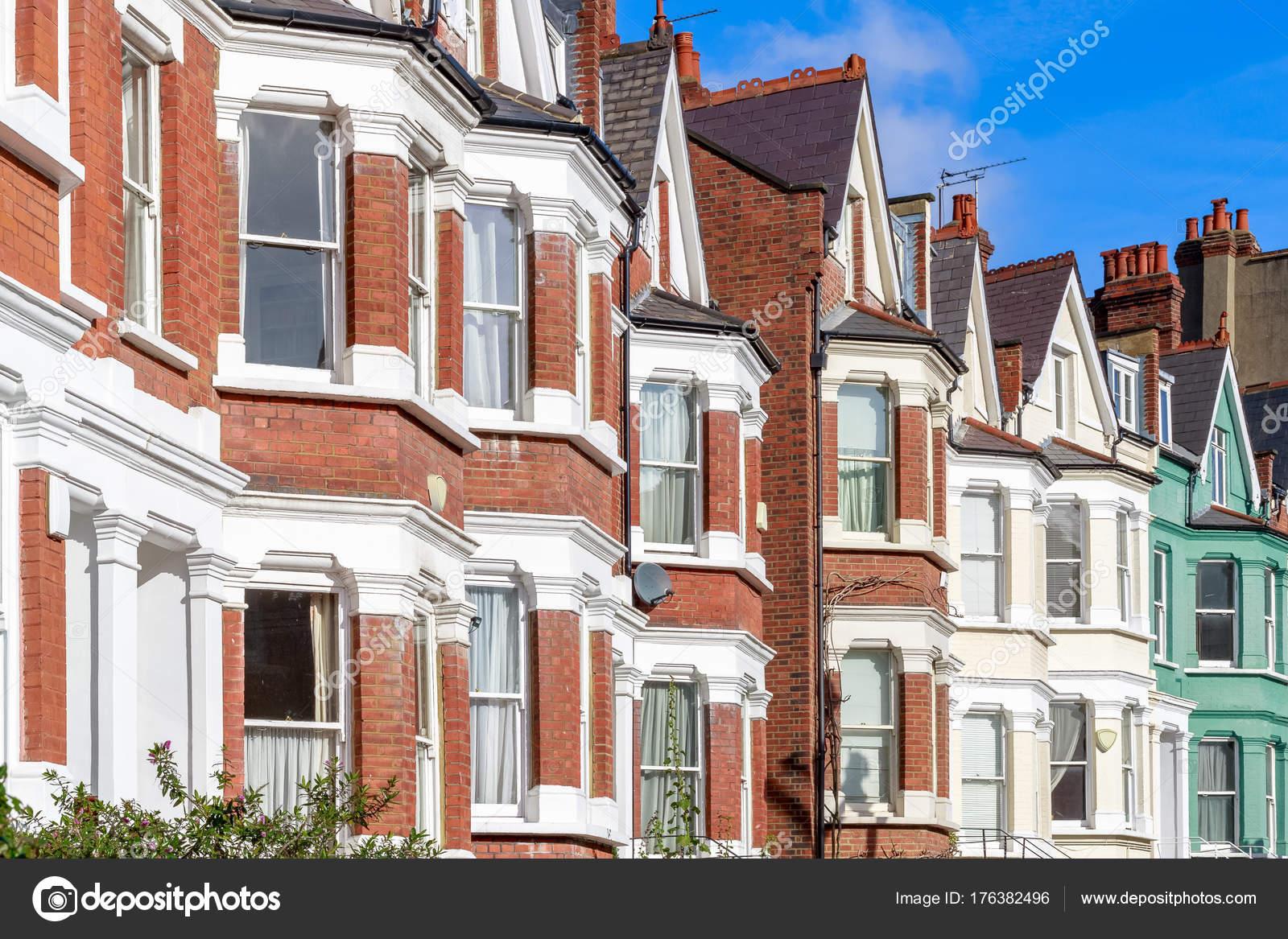Case tipiche inglesi a schiera nel west hampstead londra u foto