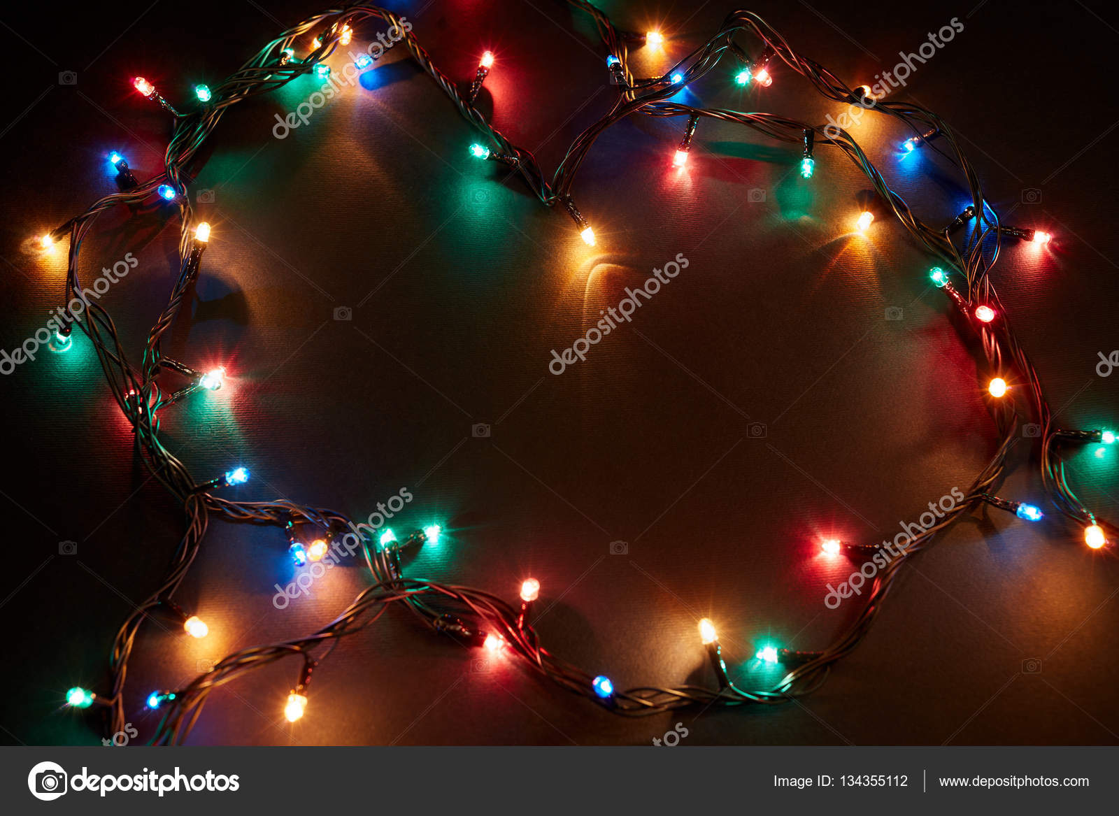 Foto Con Luci Di Natale.Sfondo Di Natale Con Luci E Spazio Di Testo Libero Bordo Di