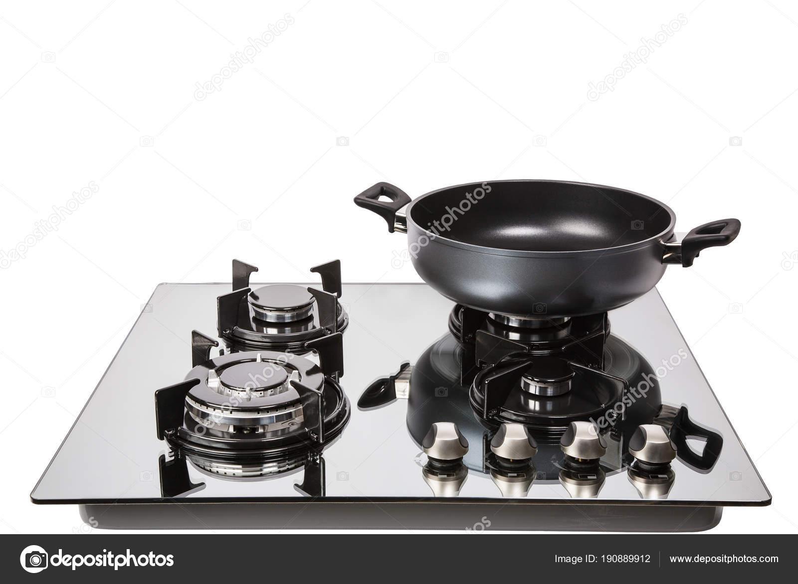 Kuchenka Gazowa Szklana Z Patelni Zdjęcie Stockowe
