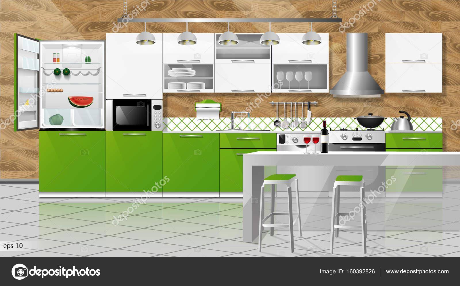 Interior Da Cozinha Moderna Fotografias De Stock Irkus Life
