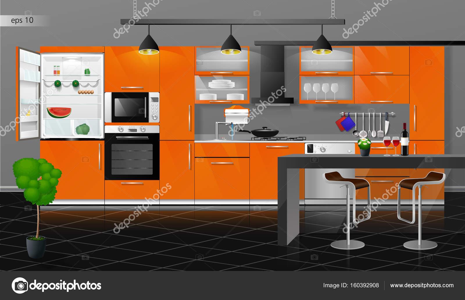 Interior Da Cozinha Moderna Stock Photo Irkus Life Gmail Com
