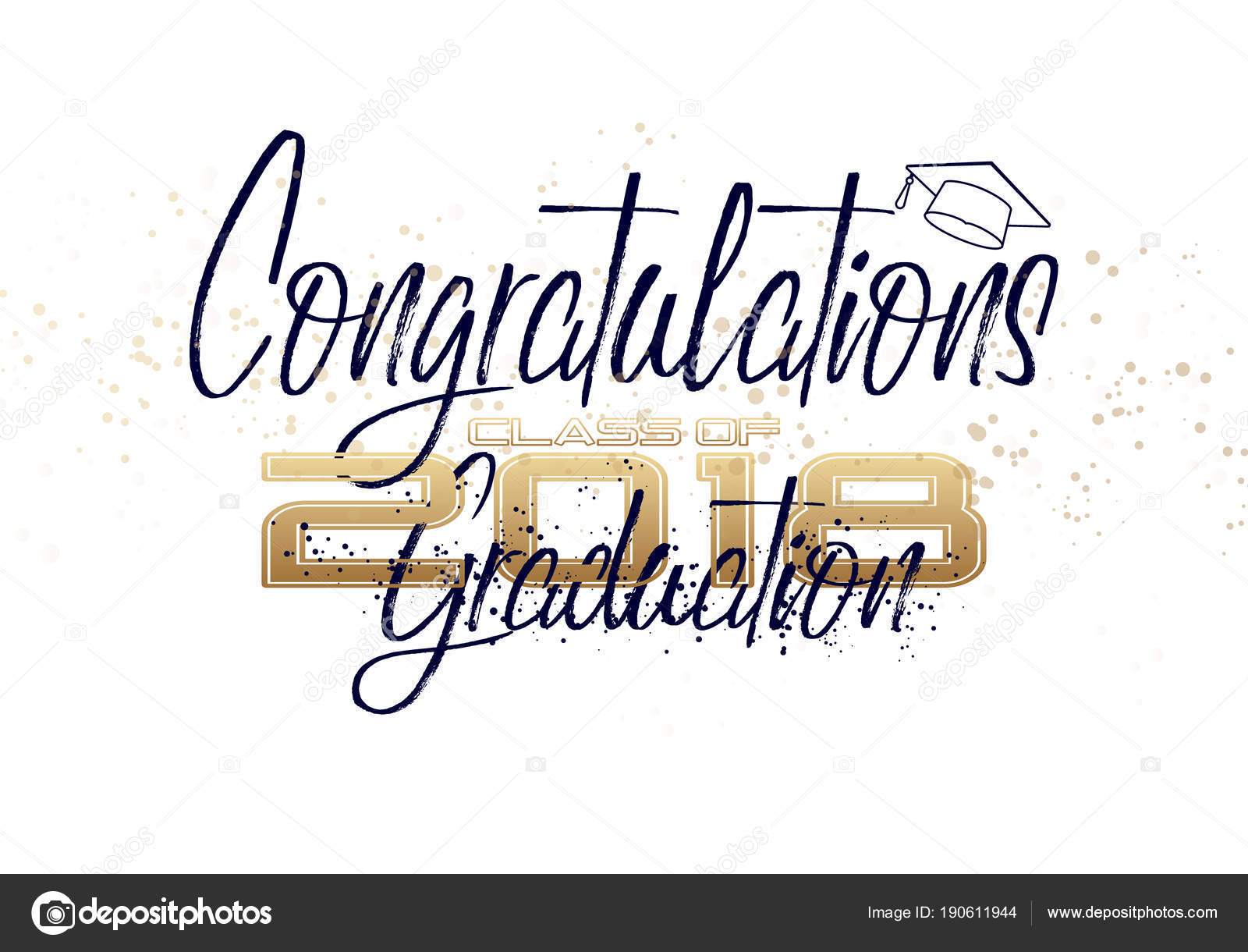 graduation label vector text for graduation design congratulation