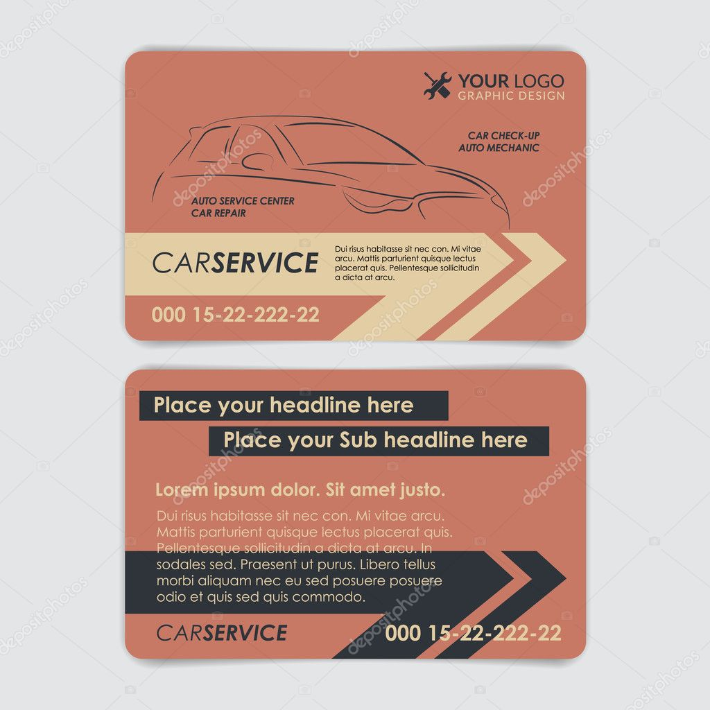Service car business card template. Create your own business cards ...
