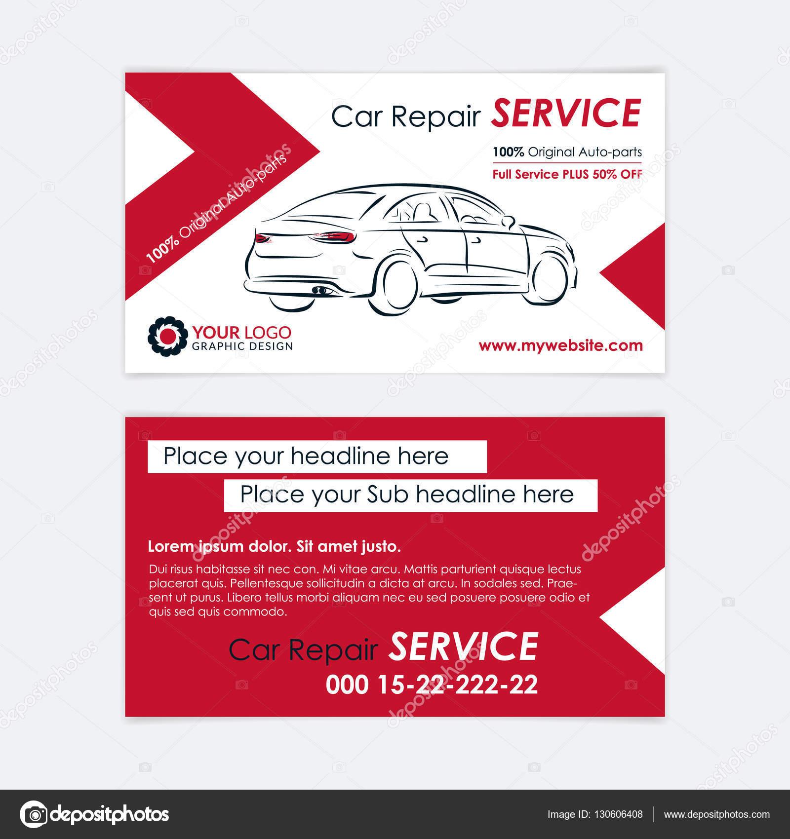 Auto Reparatur Visitenkarte Vorlage. Erstellen Sie Ihre eigenen ...