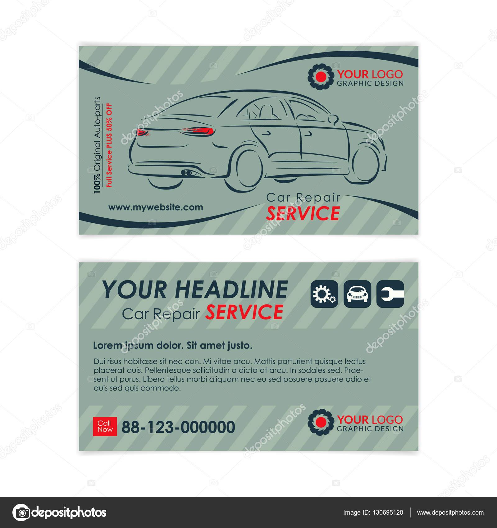 Auto Reparatur Visitenkarte Vorlage Erstellen Sie Ihre