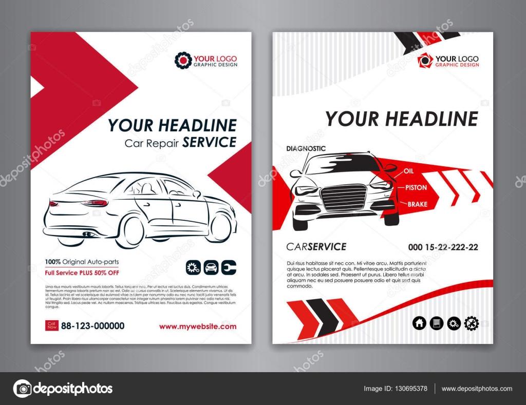 a5 a4 service car business layout templates auto repair brochure