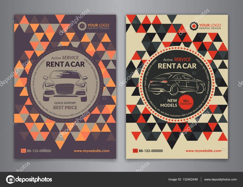 set a5 a4 rent a car business flyer template auto service brochure templates