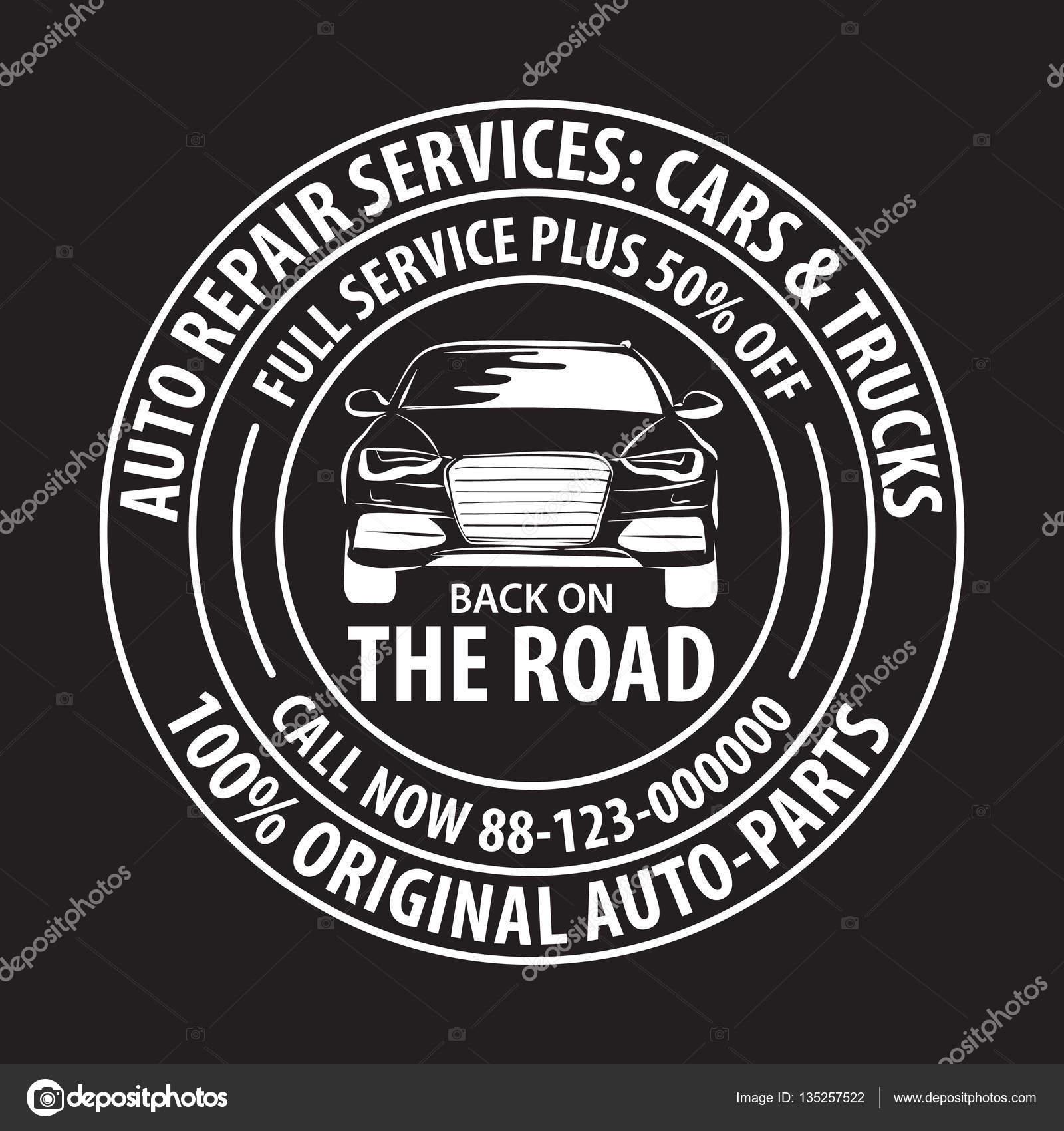 Auto-Reparatur-Dienstleistungen-Abzeichen-Vorlage. Auto Service ...