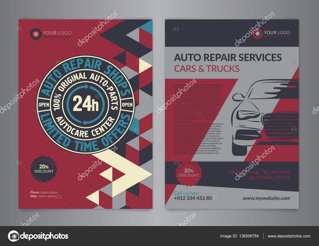 Set-Automobil-Service-Center Business-Layout-Vorlagen. A4 Auto ...