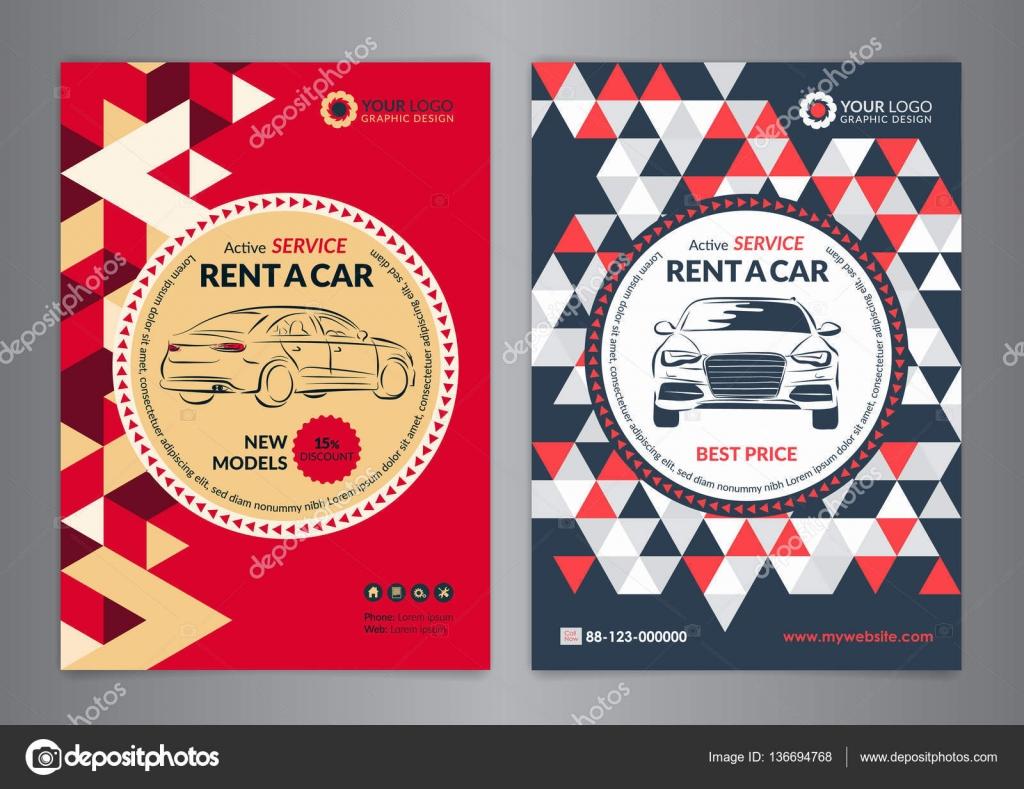 Huur Een Auto Business Flyer Sjabloon Auto Service Brochure