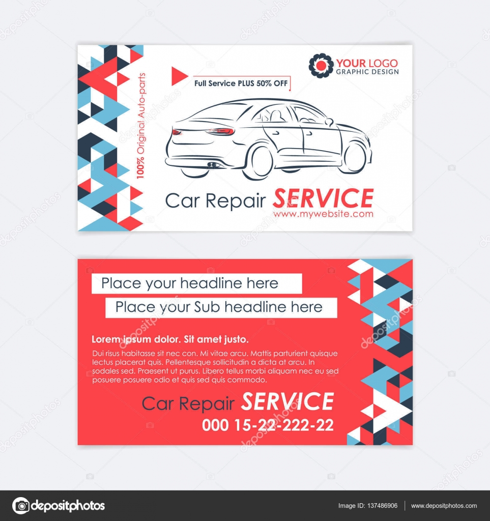Automotive service business card template car diagnostics and automotive service business card template car diagnostics and transport repair create your own business reheart Image collections