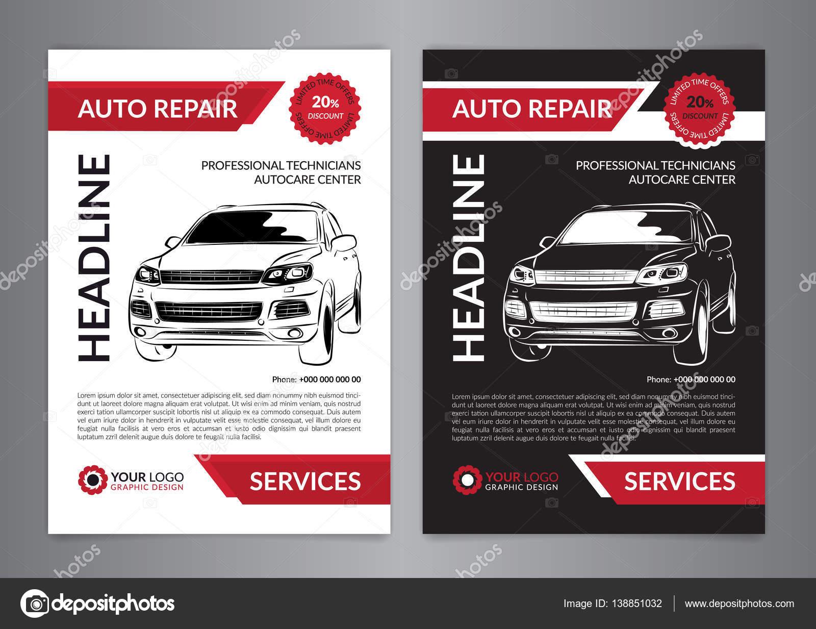 Auto-Reparatur-Geschäft-Layout-Vorlagen, Automobil Magazin-Cover ...