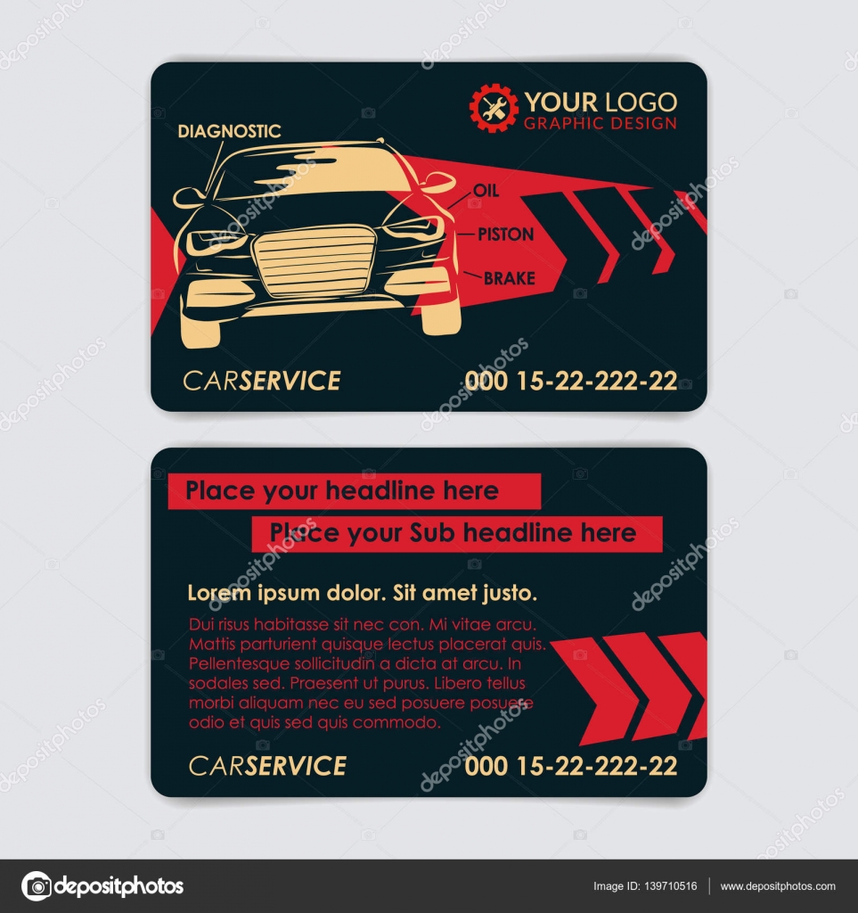 Used car dealer business card pinterest small engine repair.