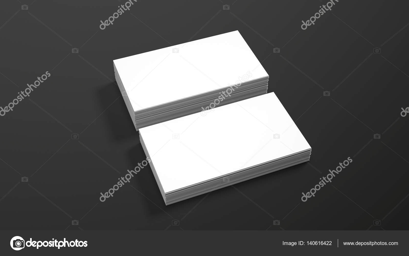 Business card template on black background. High resolution 3d ...