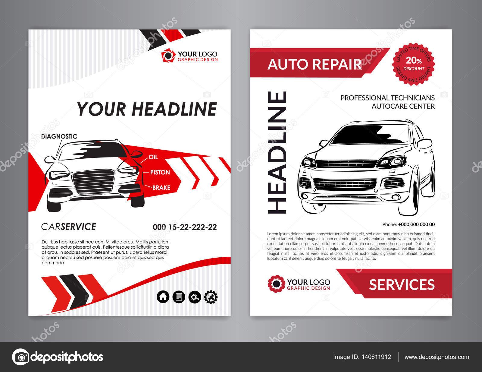 de plantillas de diseño de negocios de reparación de A4 automático ...