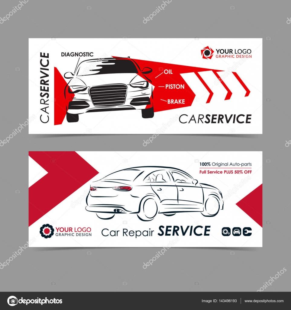Sistema de auto reparación servicio banner, poster, flyer ...