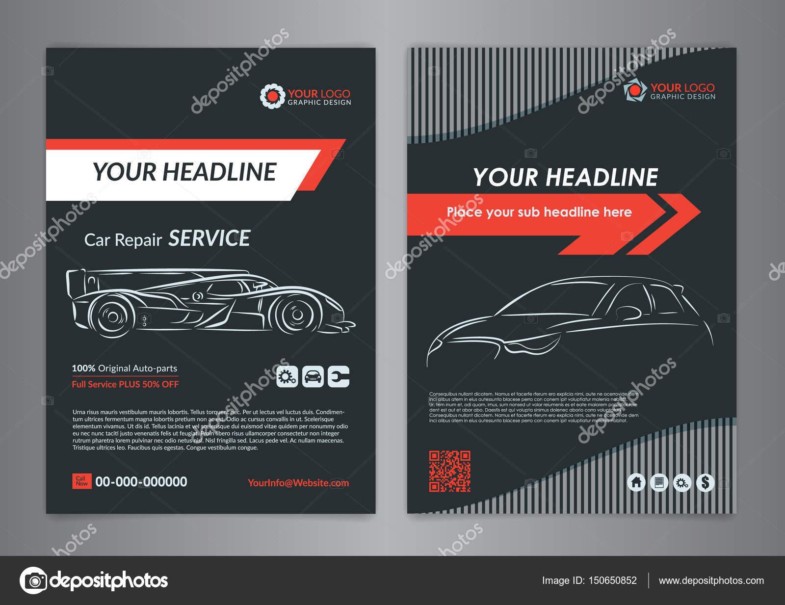 Plantillas de diseño de negocios de reparación de automóviles ...