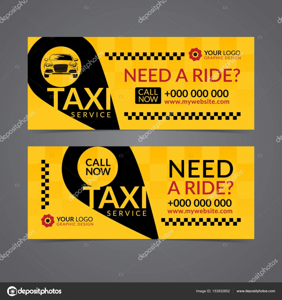 Set of taxi service business banner, poster, flyer  Taxi pickup