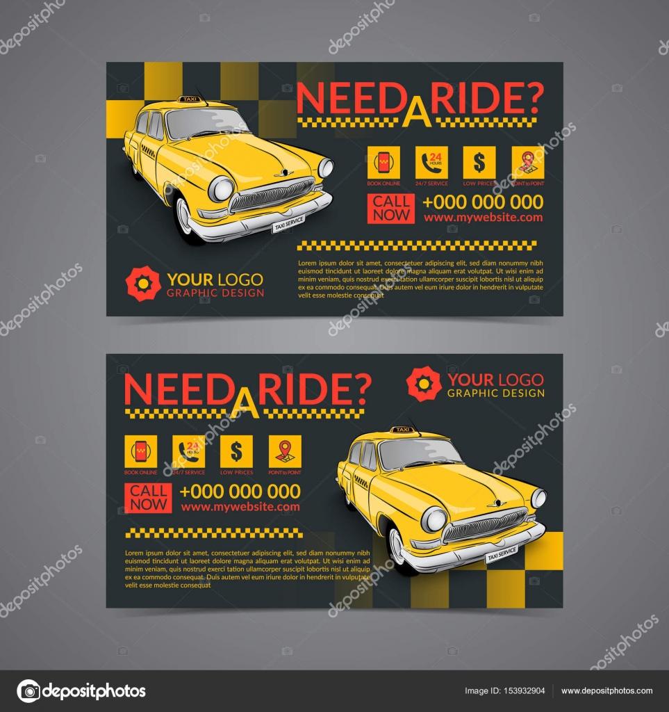 Taxi Pickup Service Visitenkarten Layout Vorlage Erstellen