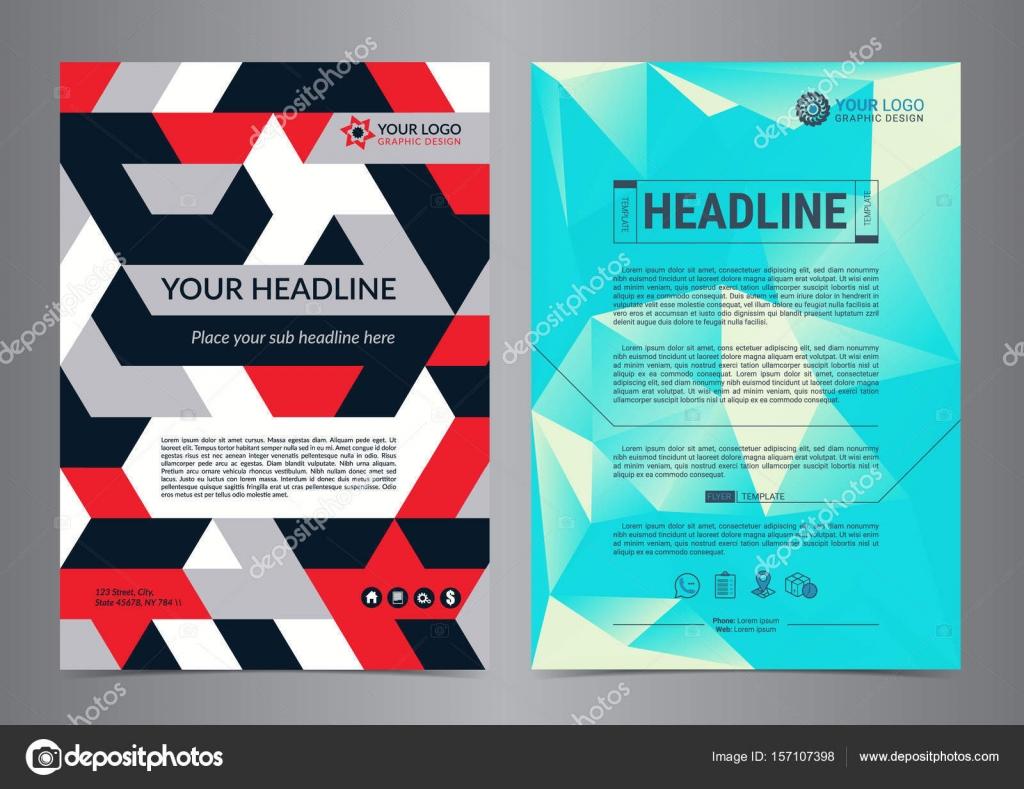 Mehrzweck-Flyer-Layout mit geometrischen Hintergrund. Business ...