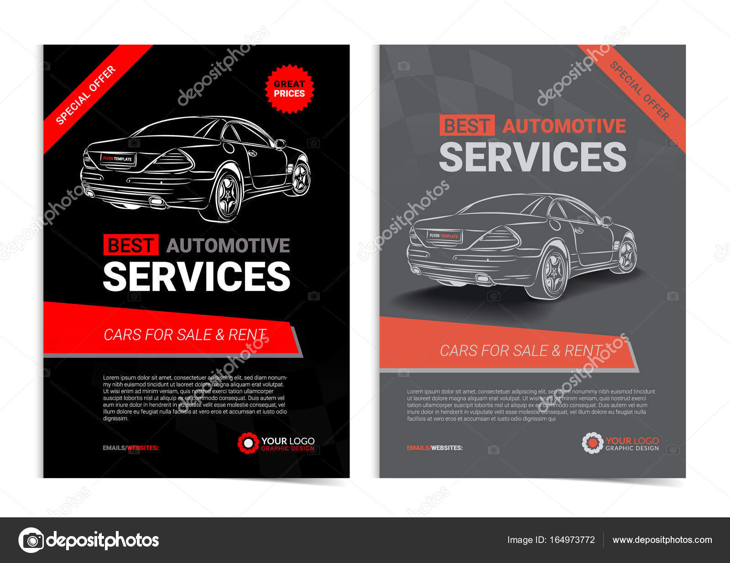 Conjunto de plantillas de diseño de servicios de automoción ...