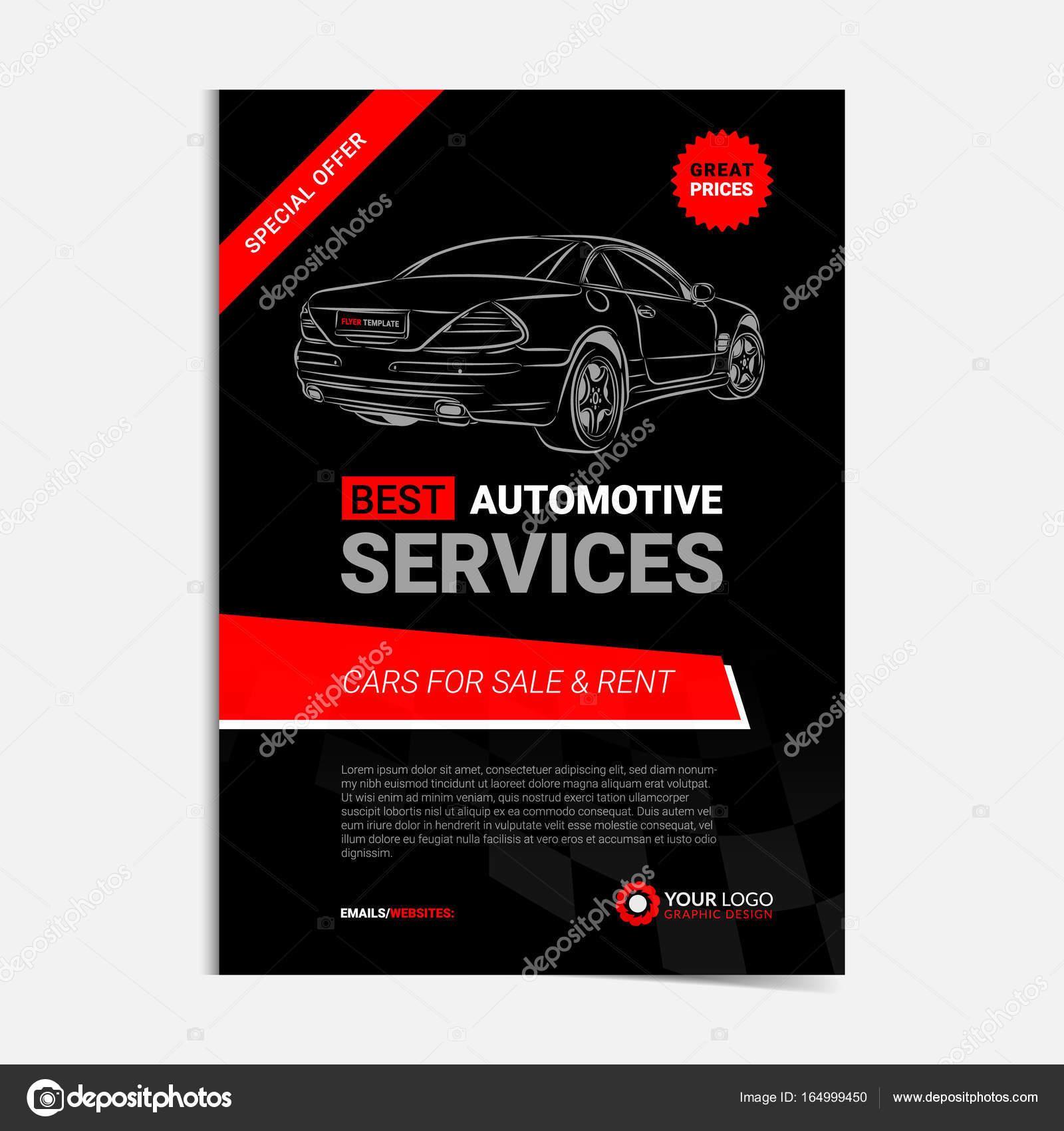 Plantilla de diseño de servicios automotriz, coches para la venta ...
