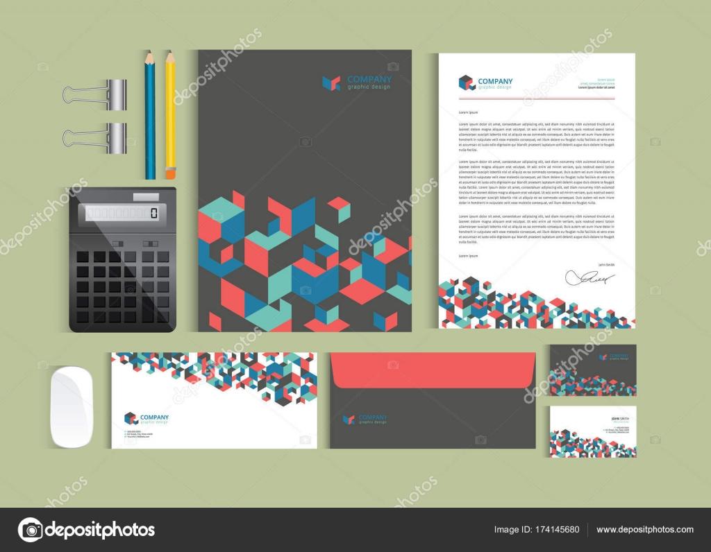 Plantillas de diseño de identidad empresarial. Set de papelería ...