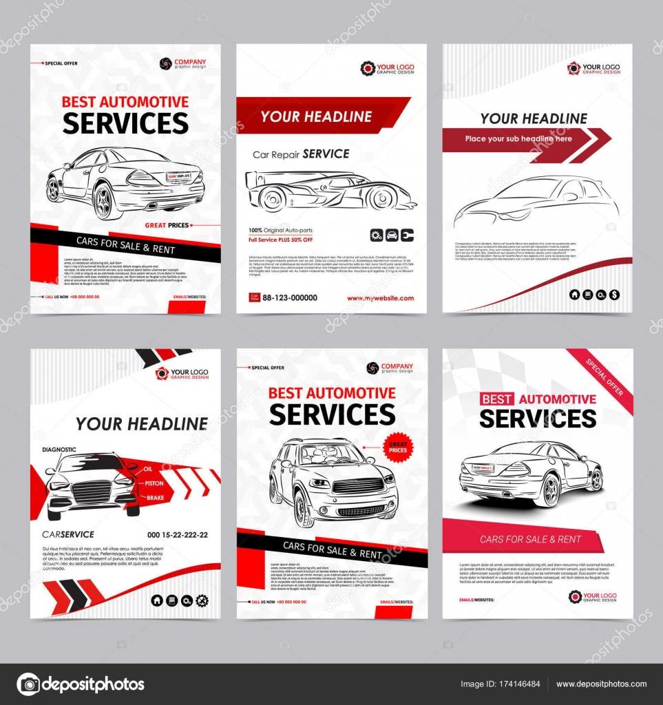 Auto reparación conjunto de plantillas de diseño de negocios de ...
