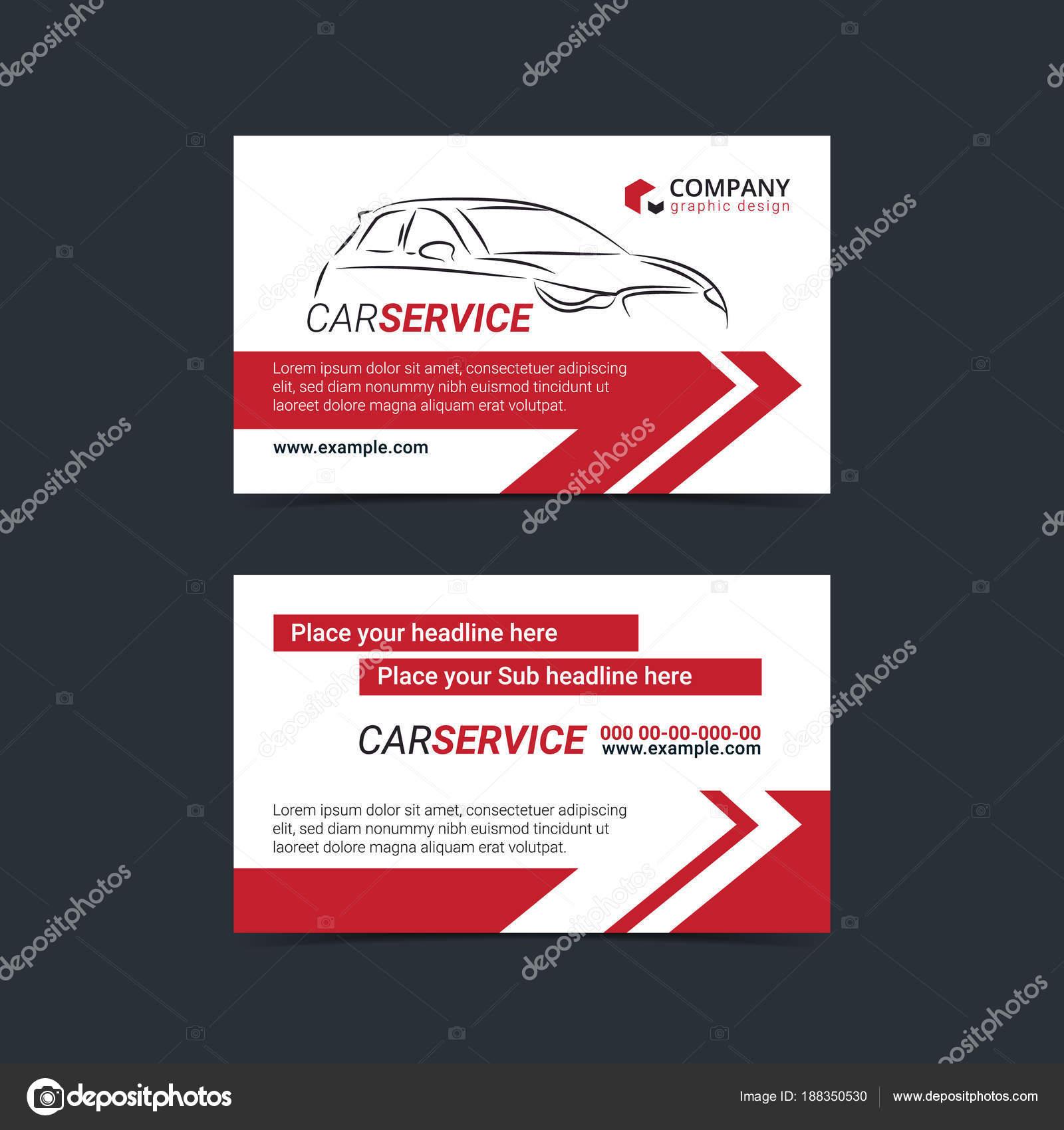 Automotive Service Visitenkarten Layout Vorlagen Erstellen