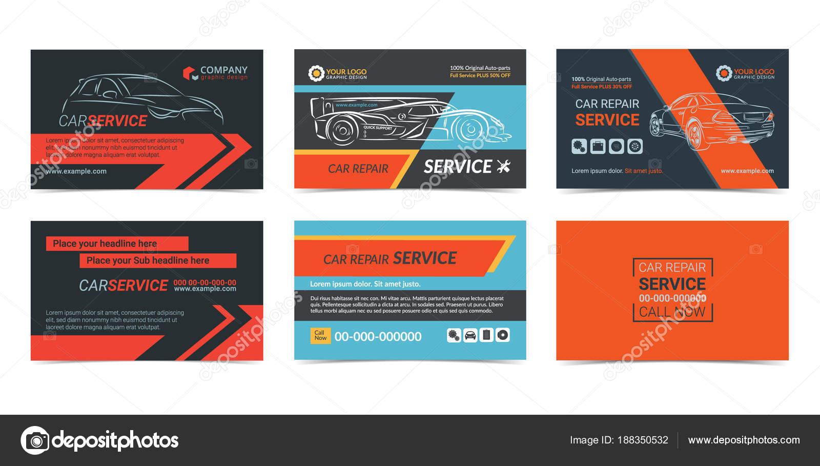 Conjunto de plantillas de diseño de tarjetas de servicio de ...