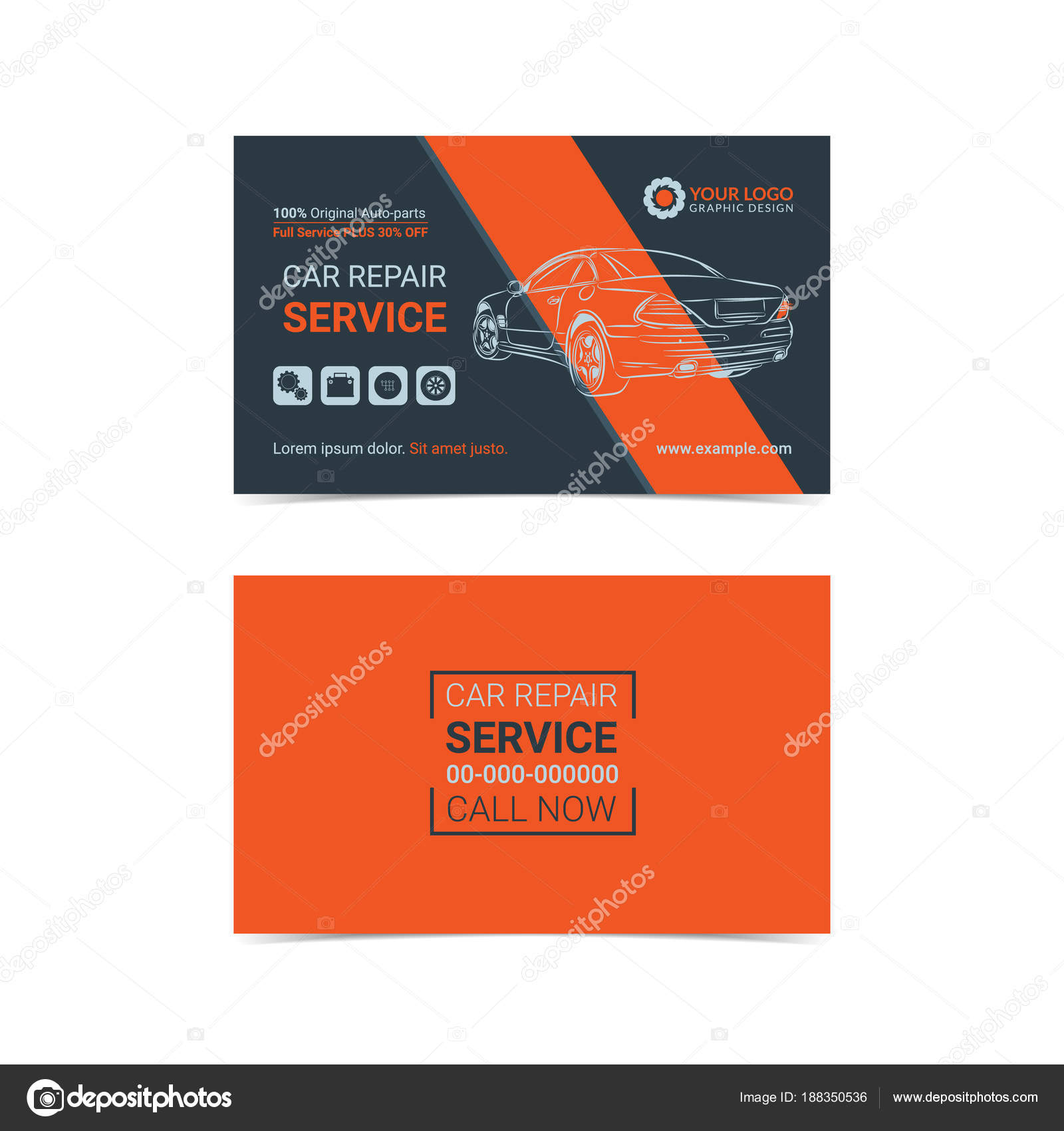 Automotive repair service business cards layout templates create automotive repair service business cards layout templates create your own business cards mockup vector reheart Image collections