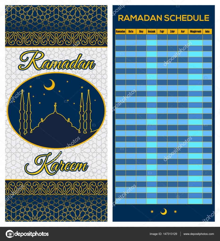 Calendrier Traduction.Calendrier Calendrier De Ramadan Le Jeune Iftar Et Priere
