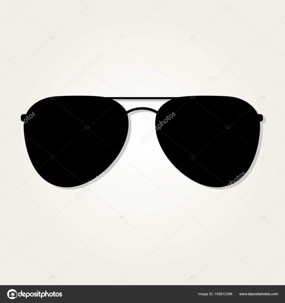 Icono de gafas de sol de aviador aislado sobre fondo blanco — Vector ...