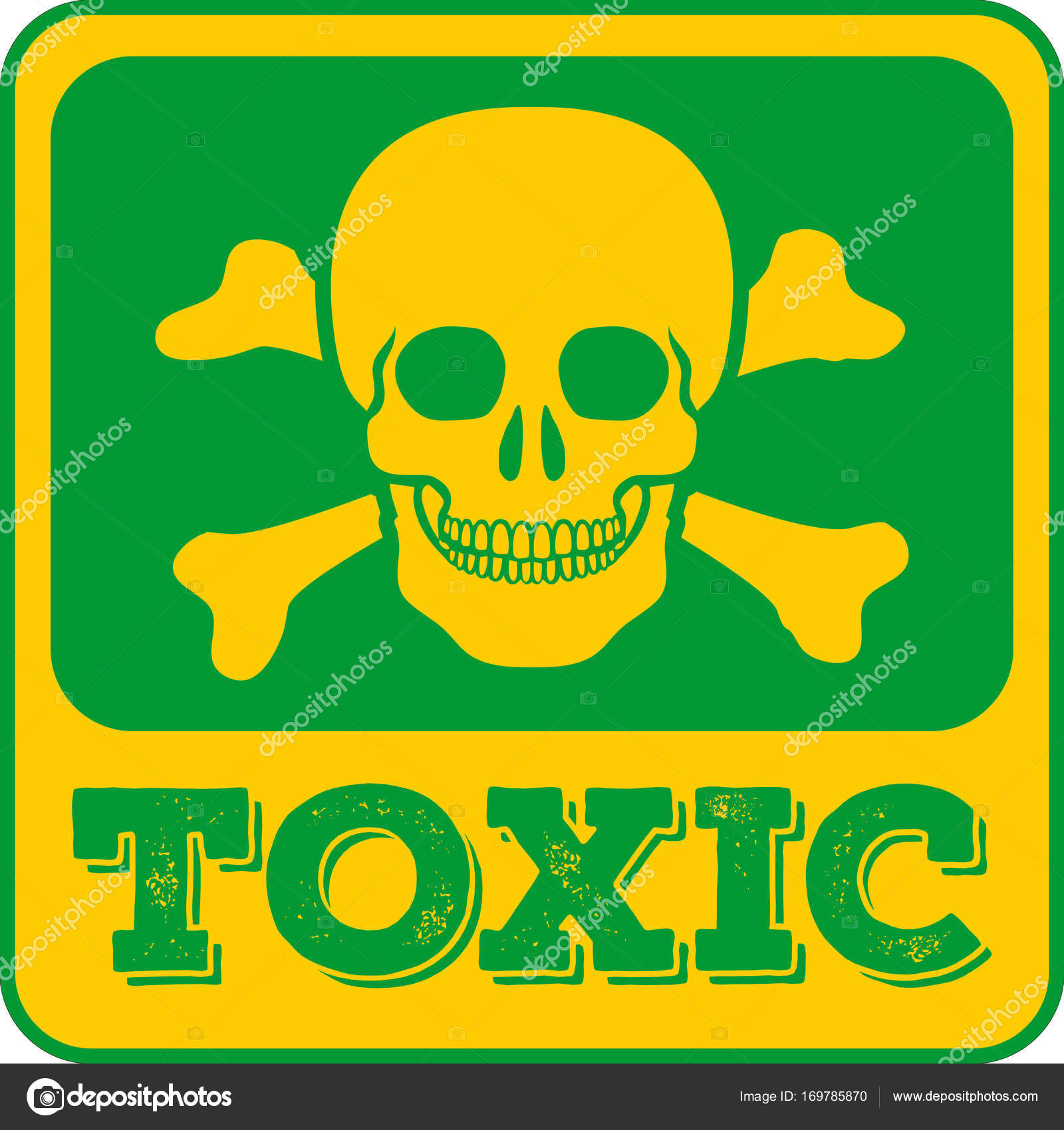 Toxic sign skull and crossbones vector illustration stock toxic sign skull and crossbones vector illustration stock vector biocorpaavc Images